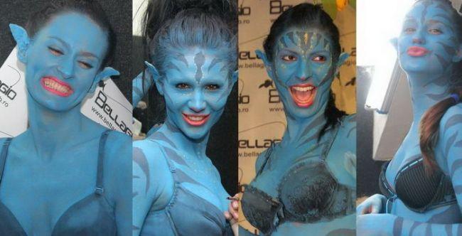 Designerii si fotomodelele nu se mai satura de Avatar! FOTO!