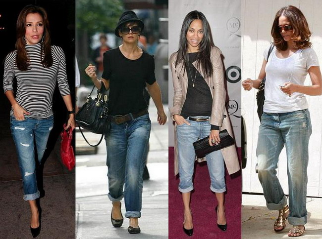 boyfriend jeans un must have in garderoba vedetelor. Black Bedroom Furniture Sets. Home Design Ideas