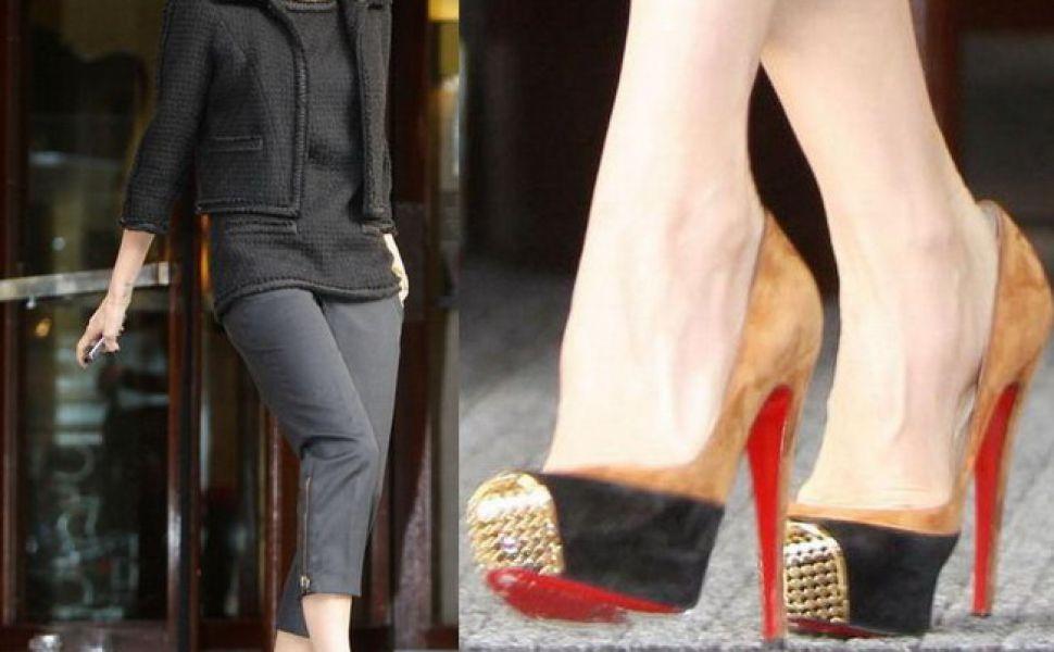 Victoria Beckham – de la pantofi Louboutin la creatii Mihai Albu?