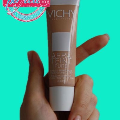 AM INCERCAT: Fond de ten-crema Vichy Aeratein Pure