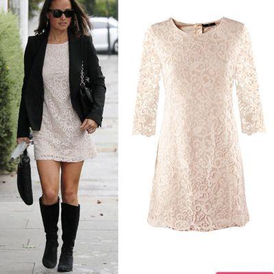 Outfit de vedeta: Pippa Middleton, intr-o rochie H M de 129 lei