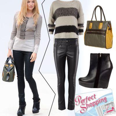 Outfit de vedeta: Sienna Miller te invata sa porti pantalonii din piele