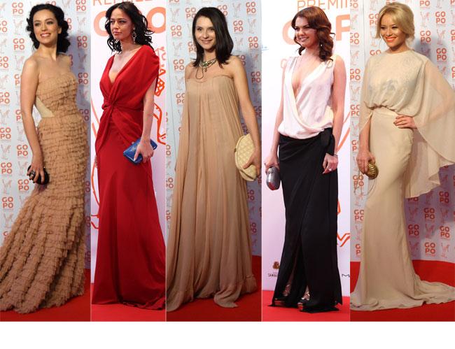 Gopo 2012: cele mai spectaculoase tinute de pe covorul rosu