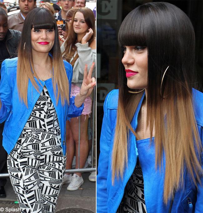 Jessie J a lansat o noua moda. Parul brunet vopsit in degrade, coafura perfecta pentru vara