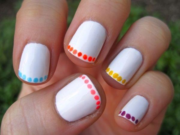 15 modele originale de manichiura frantuzeasca de pe pinterest for Easy nail designs to do at home for short nails