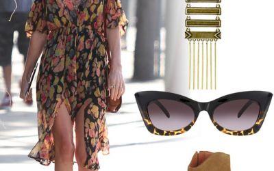 Outfit de vedeta: Kate Bosworth, intr-o rochie florala perfecta pentru vara. Vezi cum te poti imbraca si tu asa