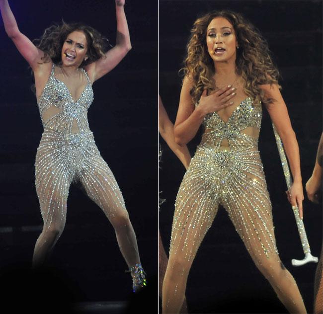 J.WOW! Jennifer Lopez a inceput turneul mondial cu o aparitie de neuitat. Si-a pus in valoare formele cu sute de diamante
