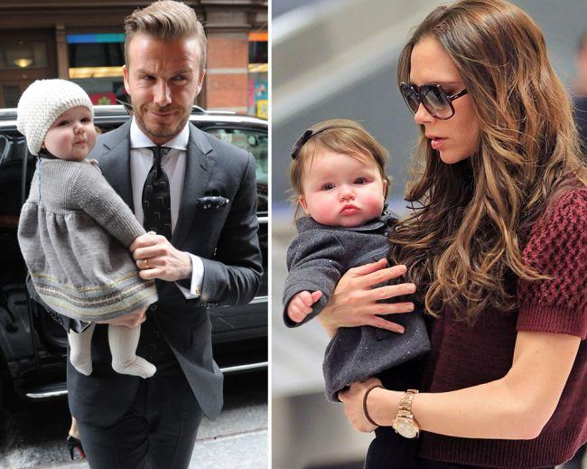 Are doar 1 ani, dar deja paseste pe urmele mamei. Haper Seven Beckham a fost votata cel mai stylish copil de vedeta din lume