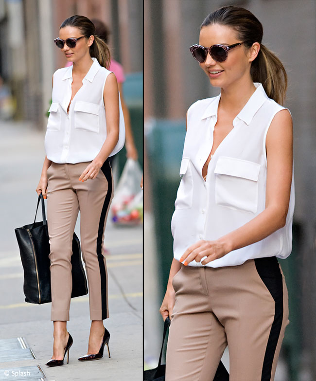 Look-ul zilei: Miranda Kerr, smart chic pe strazile din New York