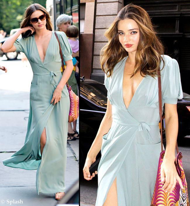 La un pas sa ramana goala pe strada. Vezi rochia cu care Miranda Kerr a intors toate privirile pe strazile din New York