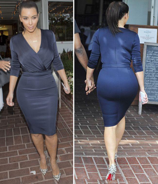 Asta trebuie sa fie una dintre cele mai mulate rochii din lume! Vezi cum s-a imbracat Kim Kardashian la deschiderea magazinului ei