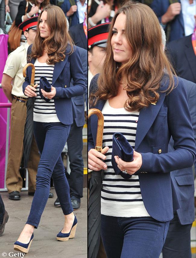 Ducesa de Cambridge, smart chic la Jocurile Olimpice de la Londra. Vezi cu ce incaltaminte a intors toate privirile