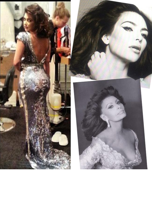Rochia care pare facuta pentru posteriorul lui Kim Kardashian. Cum a incercat Kim sa o imite pe Sophia Loren
