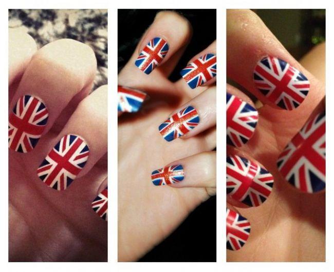 Cum sa iti faci unghiile cu modelul steagului Marii Britanii