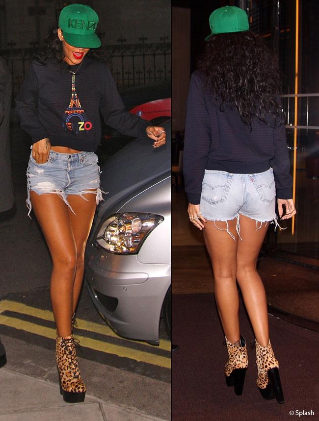 Se considera prea slaba, dar arata mai bine ca oricand. Rihanna si-a aratat picioarele interminabile in Londra