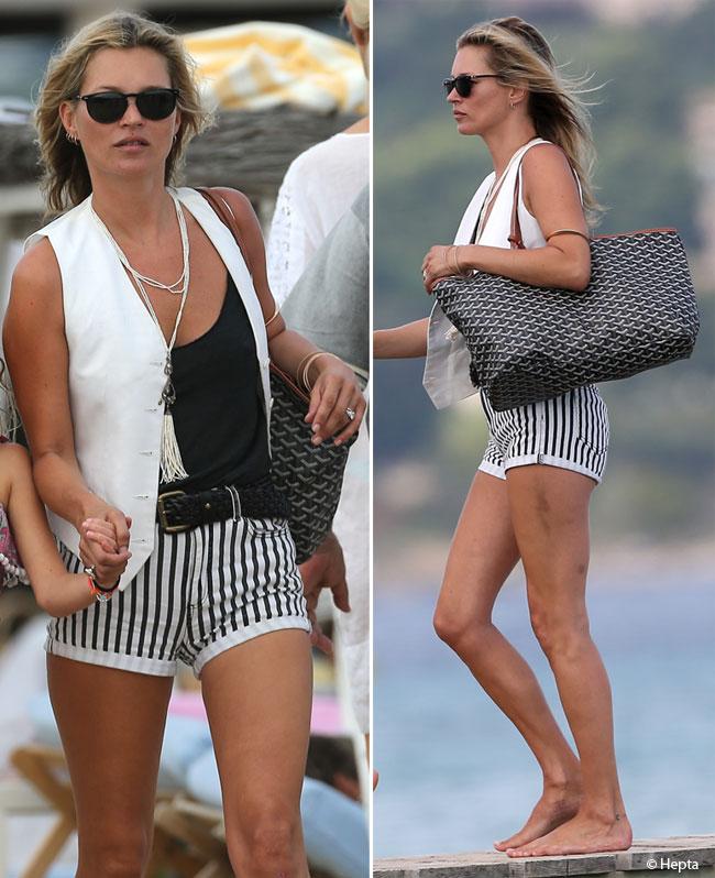 Kate Moss, stylish in vacanta, dar plina de vanatai. Vezi in ce hal arata picioarele supermodelului