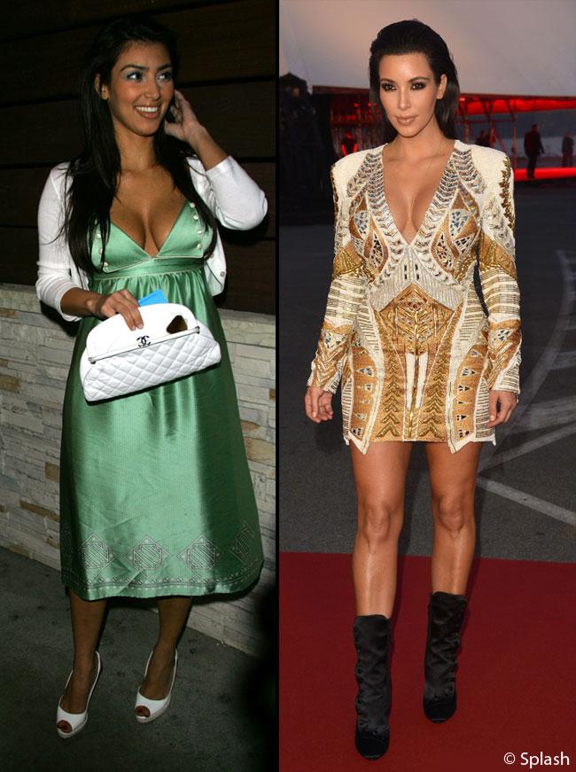 Kim Kardashian, inainte sa fie diva sexy si bine imbracata: purta haine de bunicuta si de un kitsch absolut