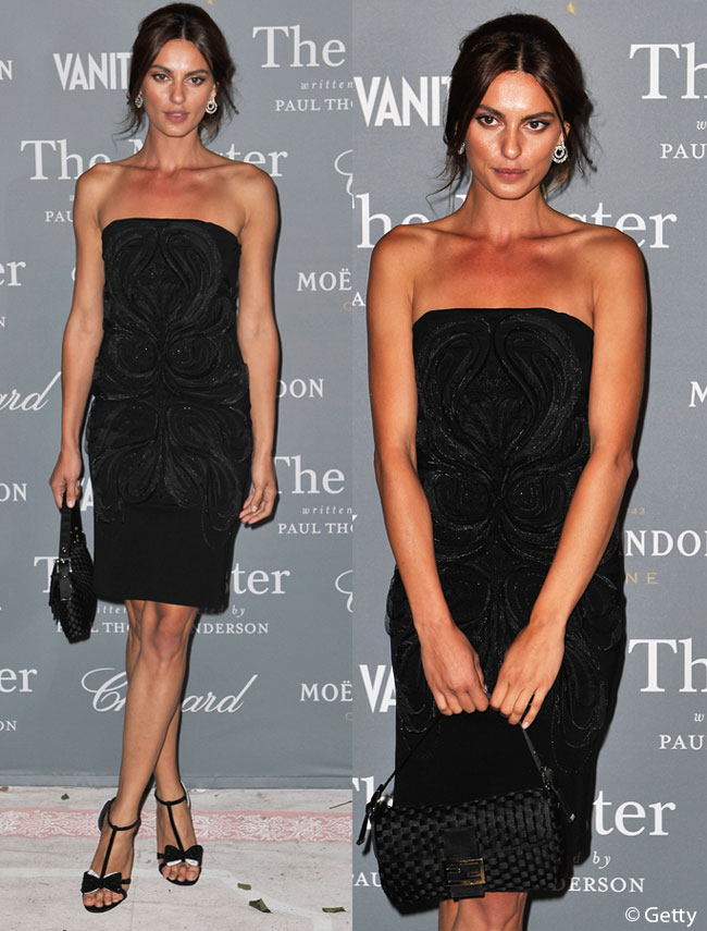 Look-ul zilei: Catrinel Menghia, sexy in negru la petrecerea Vanity Fair din Venetia