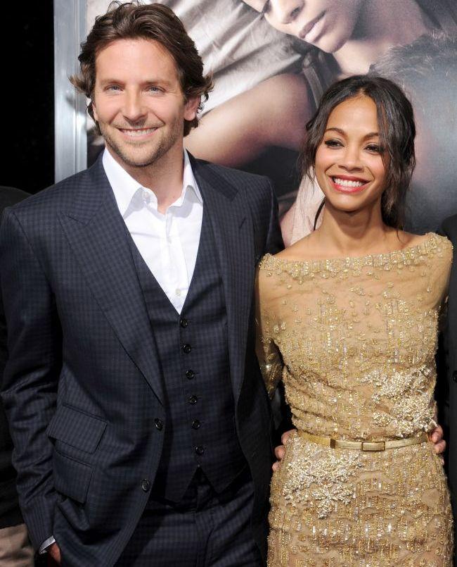 S-au despartit dupa numai 3 luni. Cum au reactionat Bradley Cooper si Zoe Saldana cand s-au reintalnit, la premiera noului for film