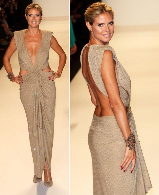 Supermodel la 40 de ani. Heidi Klum, mai sexy ca in tinerete, intr-o rochie foarte indrazneata