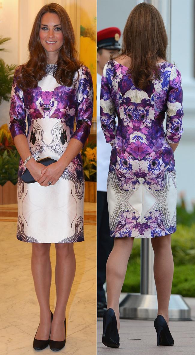 Ducesa de Cambridge sparge monotonia deux-piece-urilor si face o alegere vestimentara curajoasa pentru turneul din Singapore