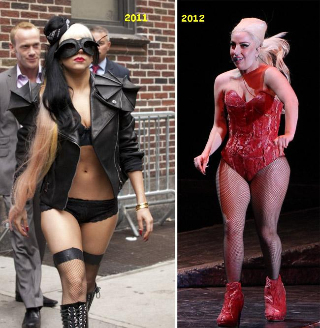 Era scheletica, dar a luat proportii ingrijoratoare. Vezi imaginile cu care Lady Gaga si-a socat fanii la ultimul ei concert