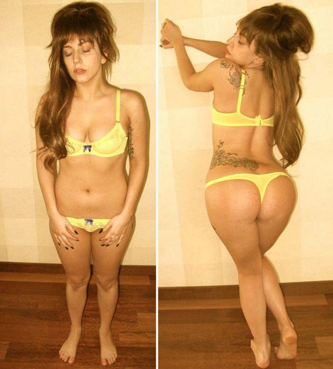 Lady Gaga se pozeaza in lenjerie intima pentru a demonstra ca nu s-a ingrasat. Ce parere ai despre silueta ei?