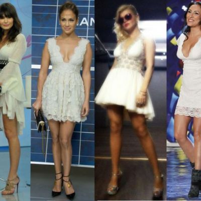 Jennifer Lopez vs vedetele din Romania. Cine arata cel mai bine in rochia de dantela alba Dana Budeanu?