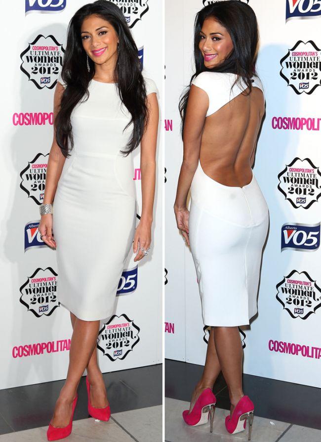 Nicole Scherzinger, aparitie hot intr-o rochie alba, cu spatele gol