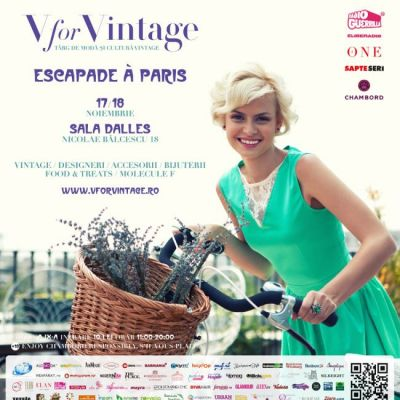 Perfecte.ro te invita in acest weekend la V for VINTAGE - ESCAPADE Agrave; PARIS