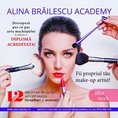 Concursul  castiga un curs de make-up la Alina Brailescu Academy  s-a incheiat. Afla daca ai castigat