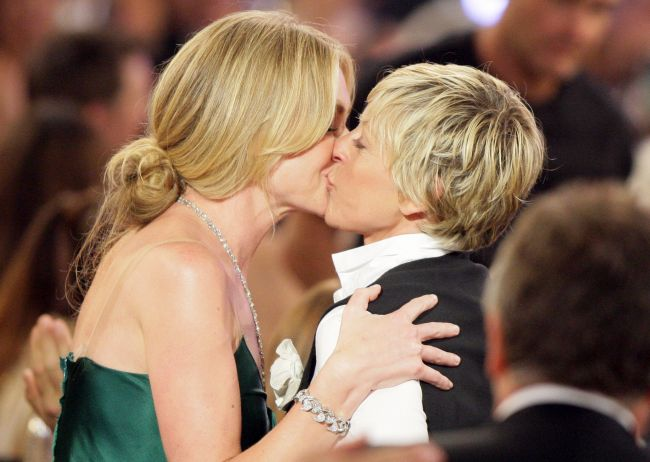 Some of the most beautiful kisses between Ellen and her wife Portia de Ross