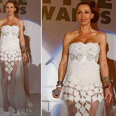 Mihaela Radulescu, cea mai sexy aparitie a anului la o gala mondena, intr-o rochie transparenta cu umerii goi