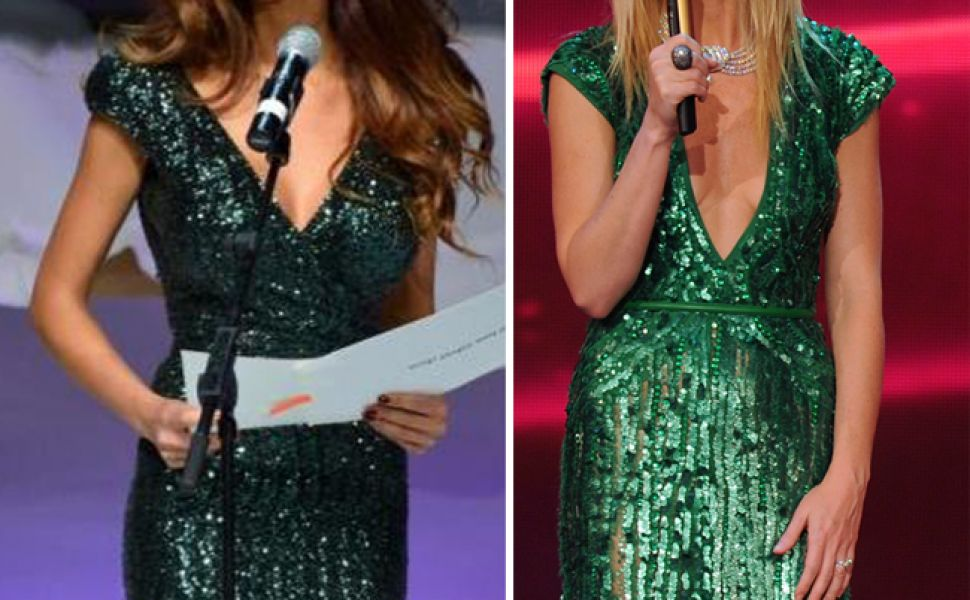 Gwyneth Paltrow si Bianca Dragusanu, in rochii de tip sirena, cu paiete. Pe cine a aratat mai bine?
