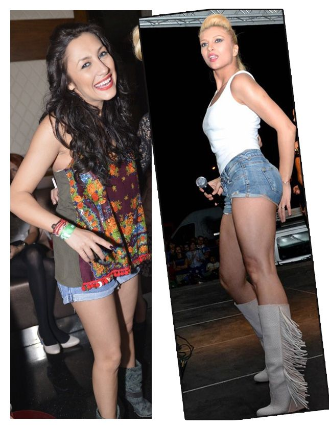 Andra si Lora, aparitii sexy in pantaloni scurti. Cine arata mai bine?