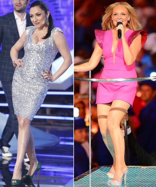 Andra si Emma Bunton, fosta Spice Girl, au pozat in ipostaze similare. Care dintre vedete a fost mai sexy?