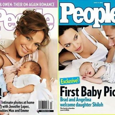Cele mai scumpe fotografii cu bebelusi. Cat au primit Jennifer Lopez si Angelina Jolie pentru primele imagini de familie