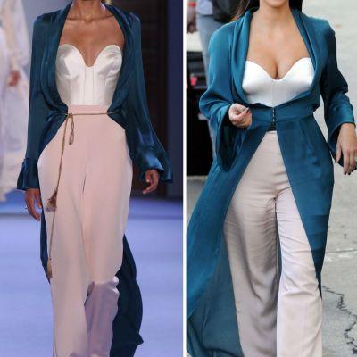 Diferenta ca de la cer la pamant. Cum arata rochiile lui Kim Kardashian imbracate de modele