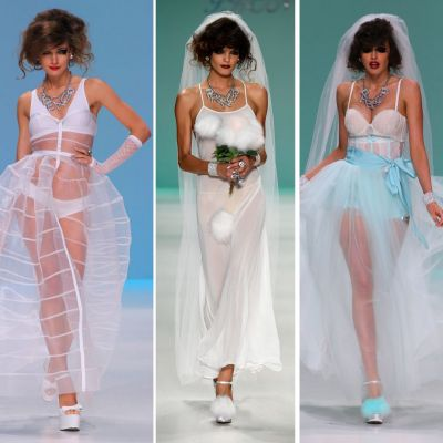 Putine mirese ar avea curaj sa poarte asa ceva. Colectia de rochii de mireasa i-a luat prin surprindere pe spectatorii de la NY Fashion Week