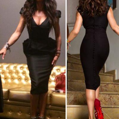 Kim Kardashian poarta corset, dar ele au o talie de viespe pe cale naturala. Vedetele din Romania care au talie de model