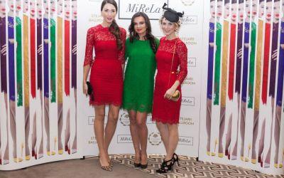 Vedetele au admirat in premiera noua colectie din rochii de dantela colorata MiReLa. Cum arata creatiile si cum s-au imbracat starurile la lansare