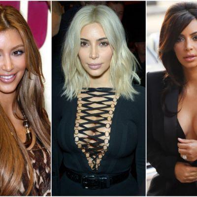 De la bruneta la blonda fatala, ea e mereu in schimbare. Cum s-a transformat Kim Kardashian: imagini de mult uitate!