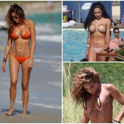 Bikini prea mici pentru forme neincapatoare. Vedete care au sucit mintile barbatilor in costume de baie minuscule