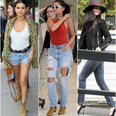 Ea e vedeta care arata cel mai bine in blugi. 10 perechi de jeans in care Selena Gomez a aratat fabulos