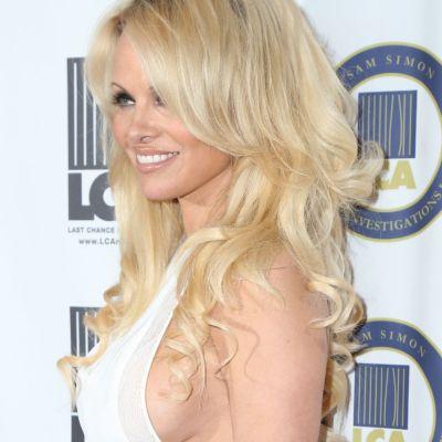 Ravasitoare la 48 de ani. Pamela Anderson, mai sexy ca niciodata pe covorul rosu al unui eveniment monden