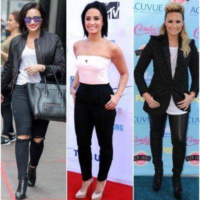 Nu ai picioare lungi si suple, de fotomodel? Invata de la Demi Lovato cum sa porti pantalonii ca sa maschezi asta