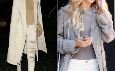 Cum poti sa arati eleganta si stilata in blugi rupti. Gigi Hadid, in combinatia perfecta de haine