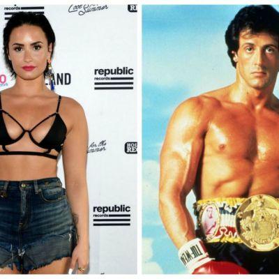Am alunecat, jur, a fost un accident  Demi Lovato, in ringul de box cu Sylvester Stallone. Care dintre ei a fost invins