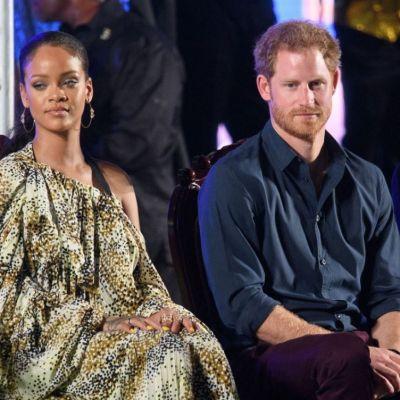 Rihanna si Printul Harry, fata in fata. Cum arata tinutele pe care le-a purtat excentrica vedeta la intalnirea oficiala