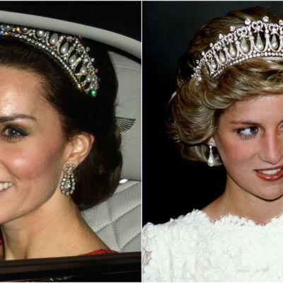 Kate Middleton a purtat tiara Printesei Diana. Cat de frumoasa este Ducesa in ultimele imagini